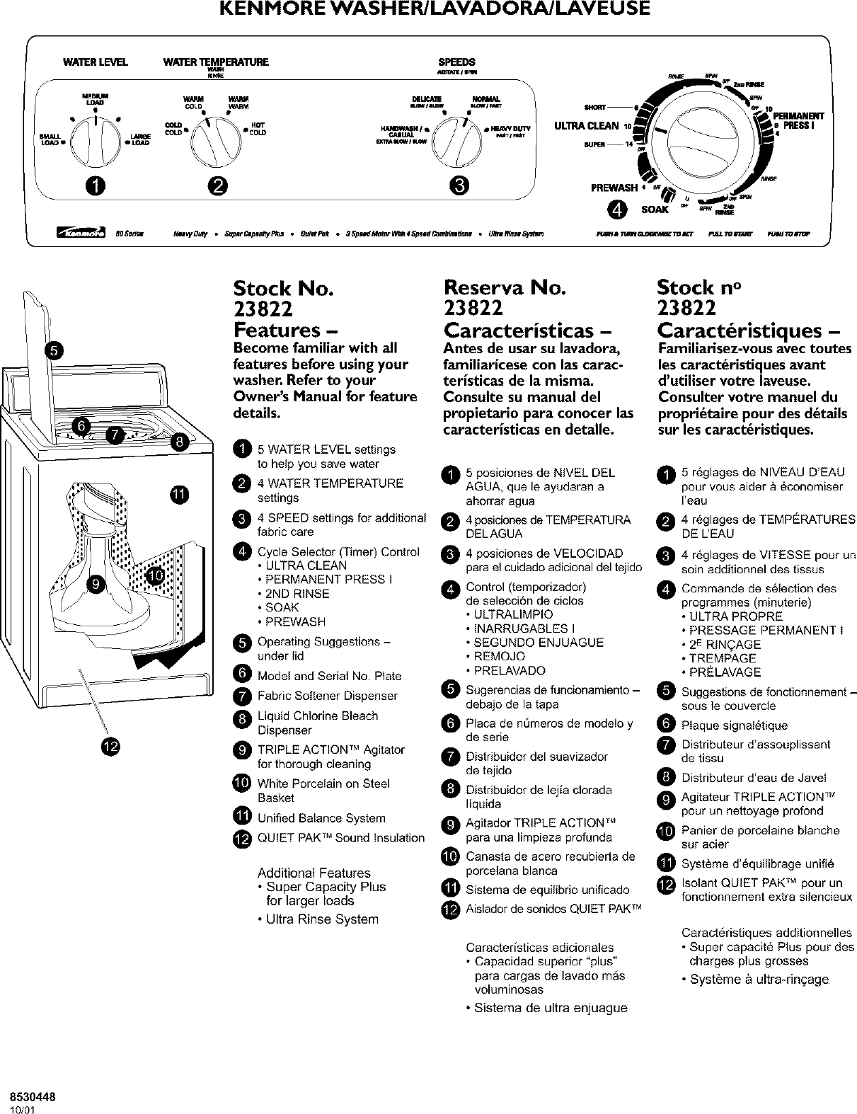 Kenmore Elite 11023012100 User Manual AUTOMATIC WASHER