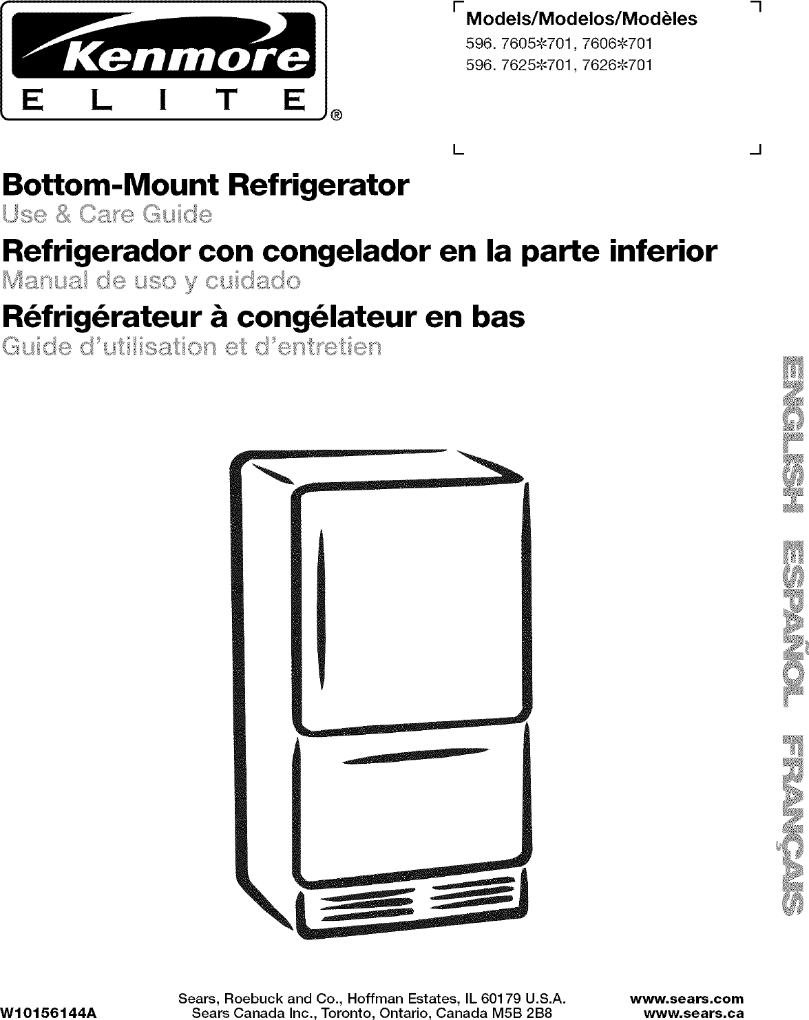 Kenmore Elite 59676059701 User Manual BOTTOM MOUNT