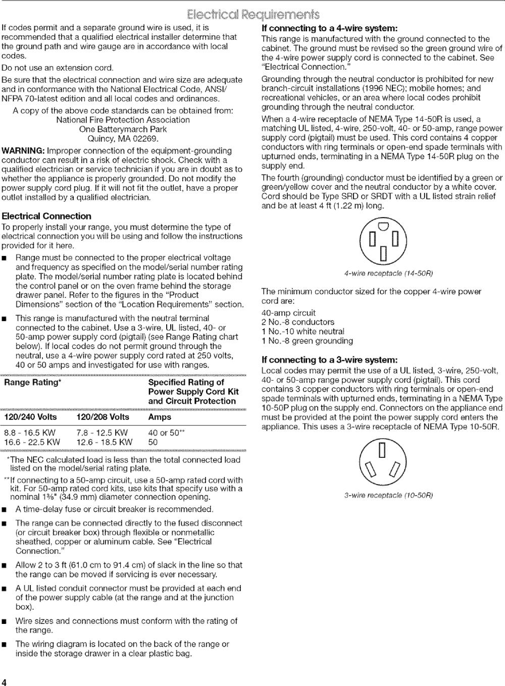 medium resolution of page 4 of 12 kenmore elite 66598002700 user manual free standing electric range manuals