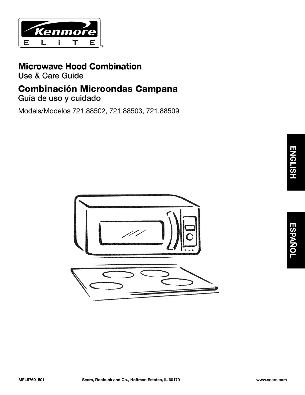 Kenmore Elite Microwave Hood Combination PartsBestMicrowave