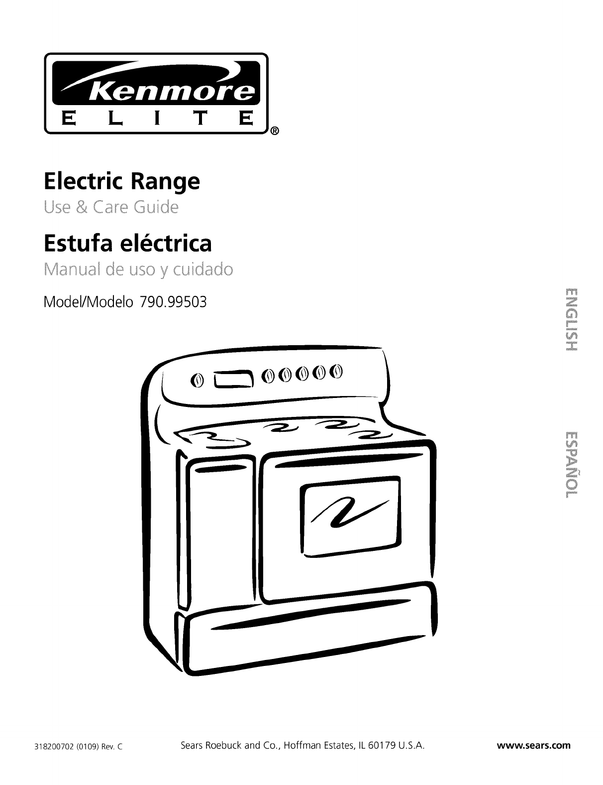 Kenmore Elite 79099503991 User Manual ELECTRIC RANGE
