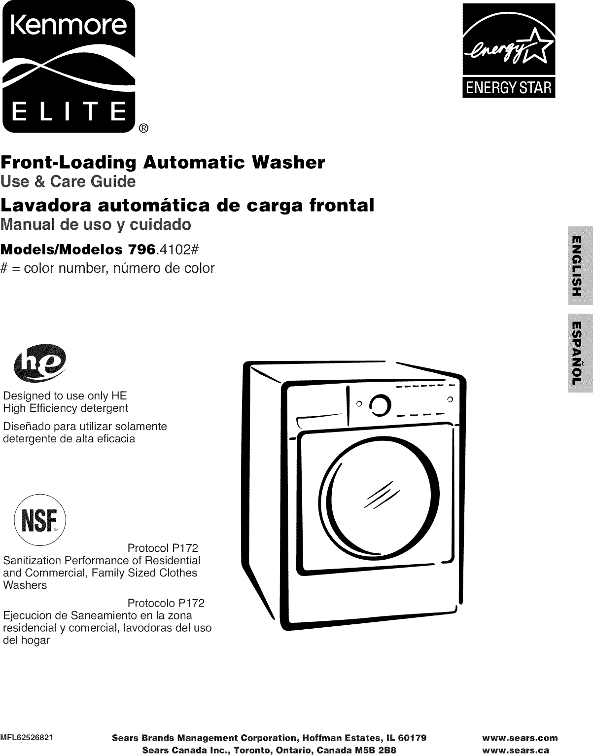 Kenmore Elite 79641022900 User Manual WASHER Manuals And
