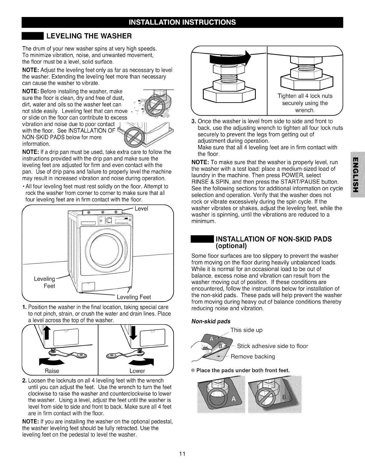 Kenmore Elite 79642192900 User Manual WASHER Manuals And