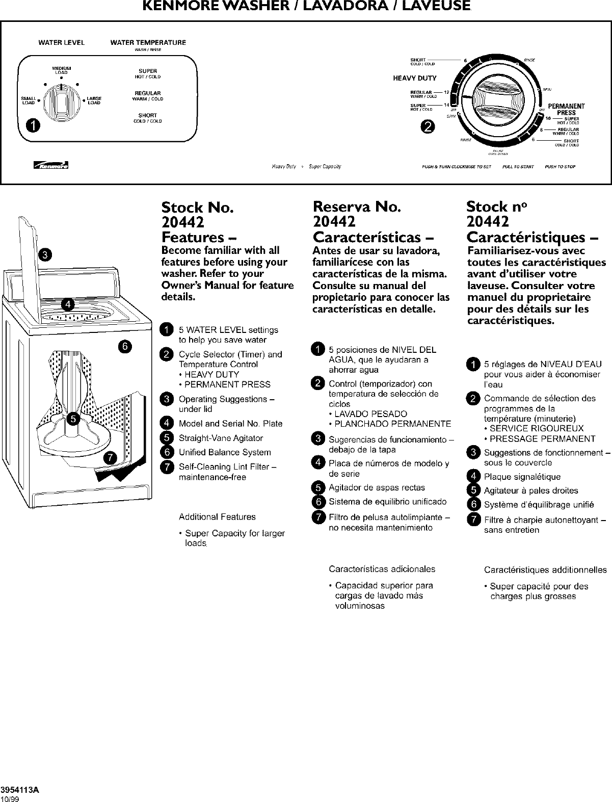 Kenmore 11020442990 User Manual WASHER Manuals And Guides