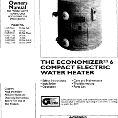 Kenmore Hot Water Heater Wiring Diagram Duo Therm Furnace Sears Electric Library