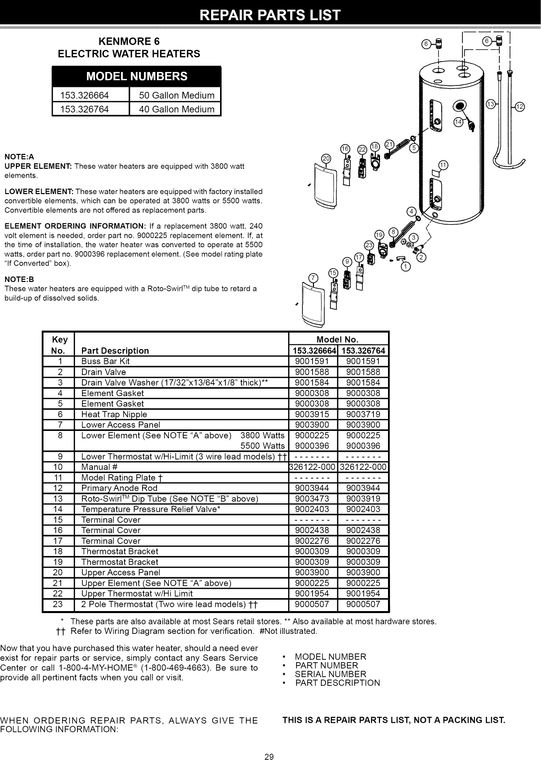 40 Gallon Electric Water Heater Wiring Diagram - series wbv ... on