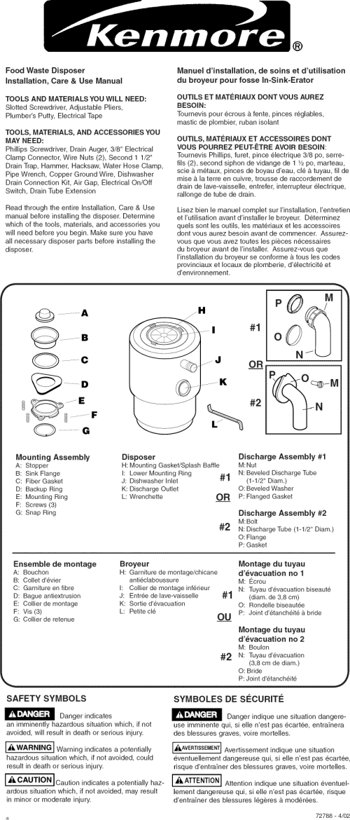 small resolution of page 1 of 4 kenmore 175605530 user manual disposer manuals and guides l0809225