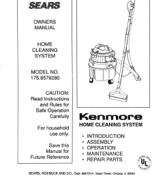 kenmore 1758579280 user manual home cleaning system manuals and guides l0812147 [ 1224 x 1584 Pixel ]