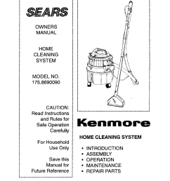 kenmore 1758690090 user manual home cleaning system manuals and guides l0803422 [ 1264 x 1616 Pixel ]