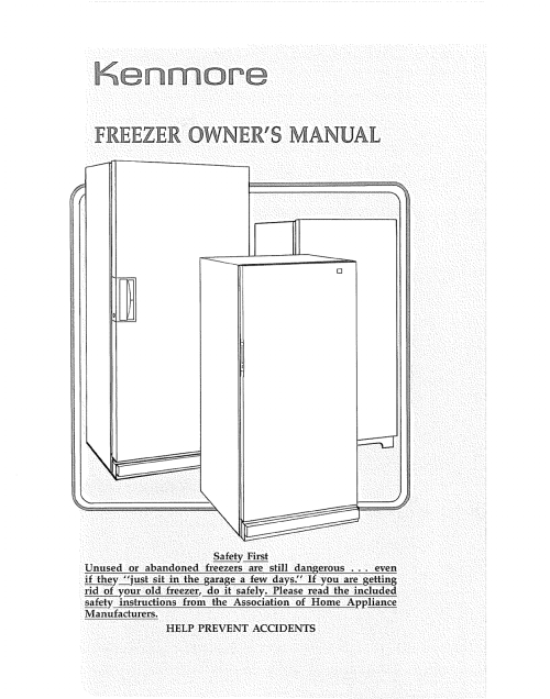 small resolution of kenmore 2539232283 user manual upright freezer manuals and guides l0809548
