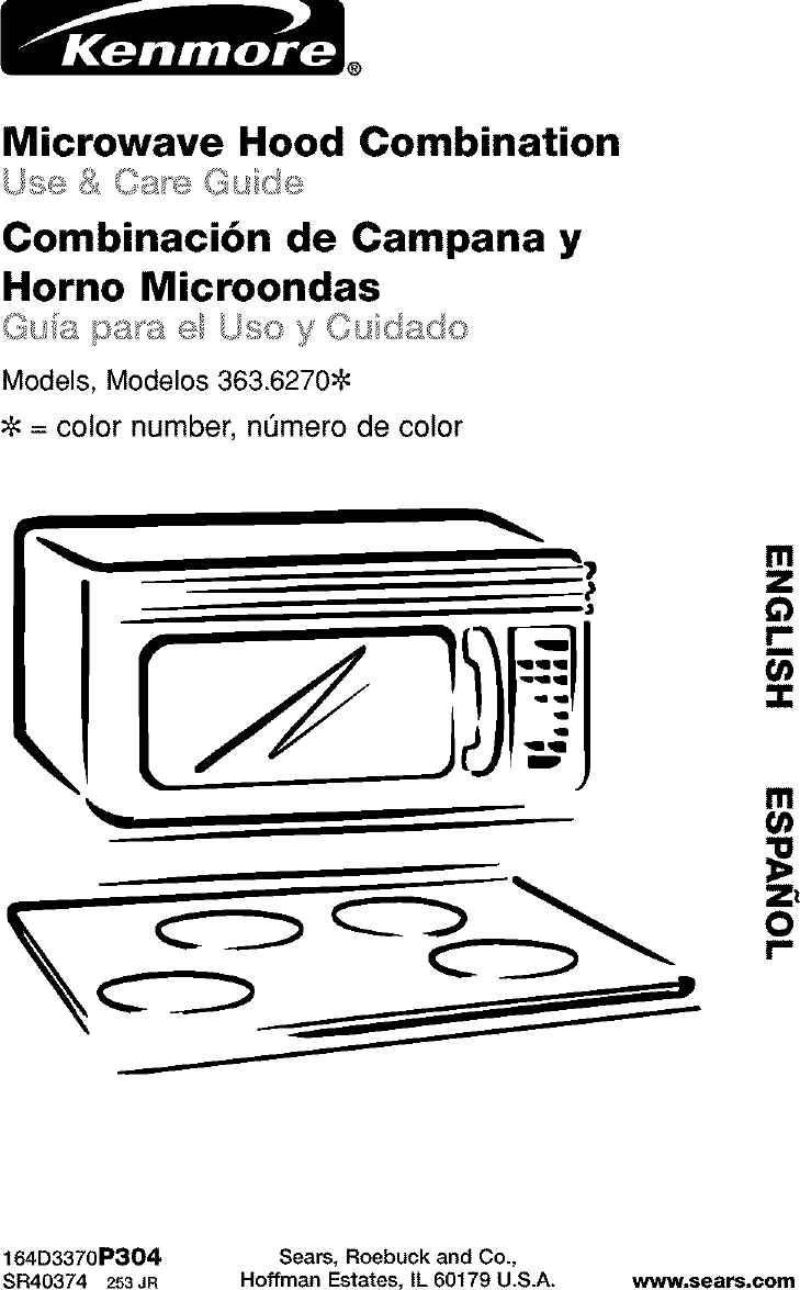 Kenmore 36362702200 User Manual MICROWAVE Manuals And