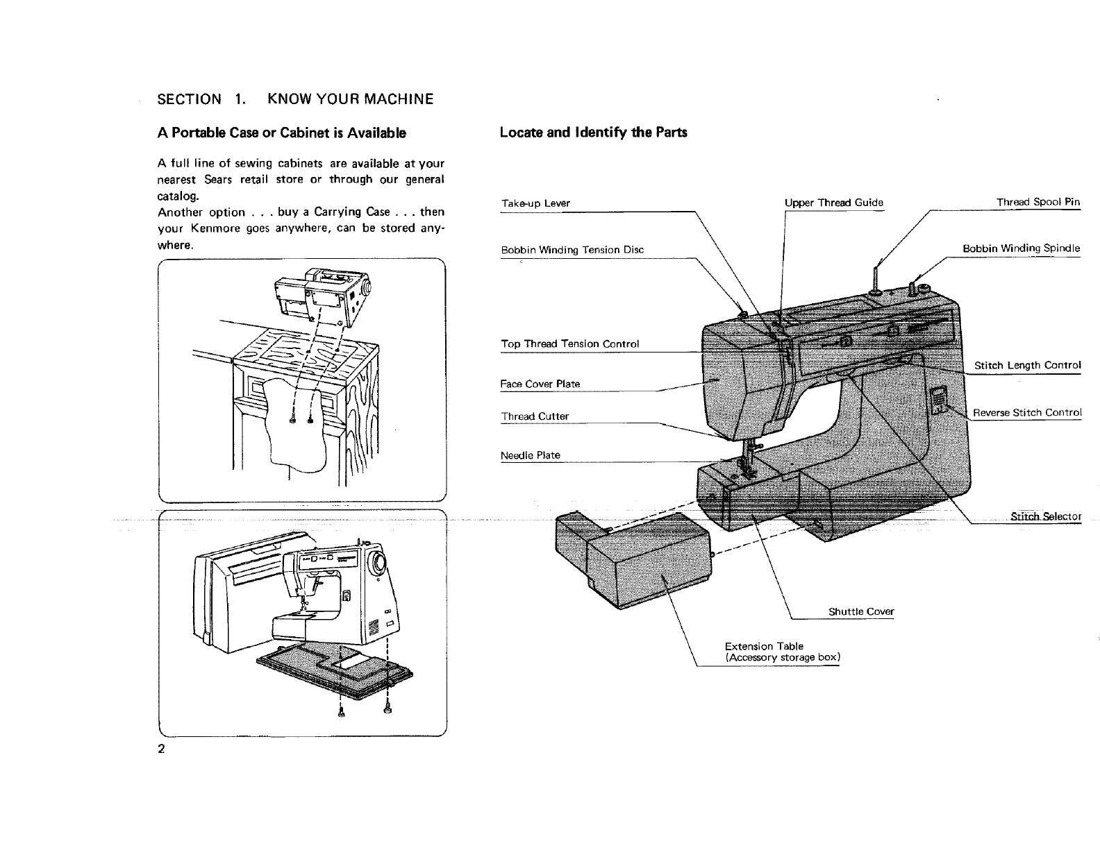 Kenmore 3851278180 User Manual SEWING MACHINE Manuals And