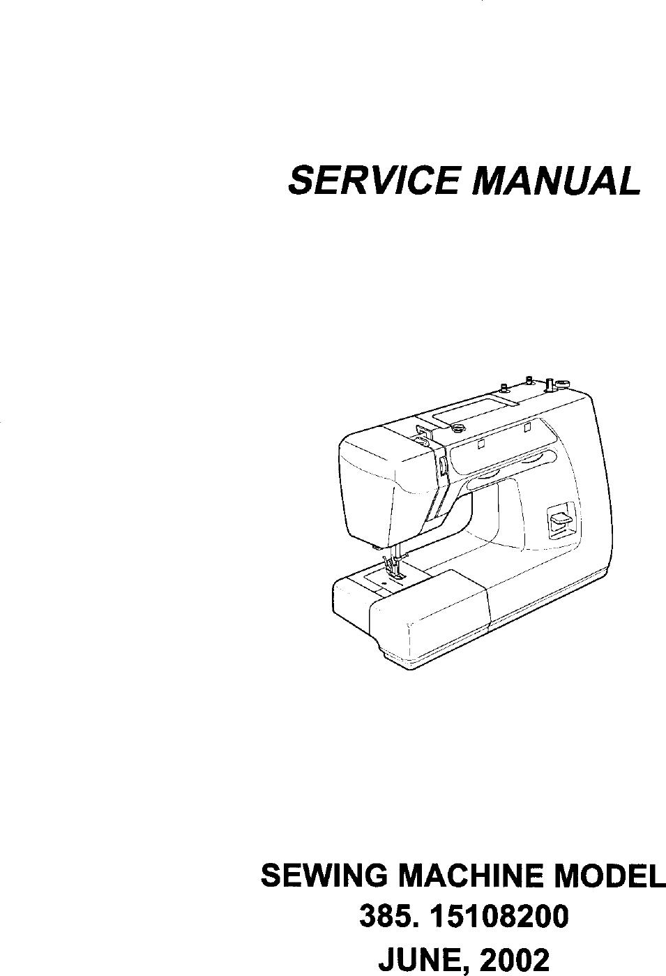 Kenmore 38515108200 User Manual SEWING MACHINE Manuals And