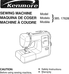 kenmore 38517628890 user manual sewing machine manuals and guides l0707007 [ 947 x 1442 Pixel ]