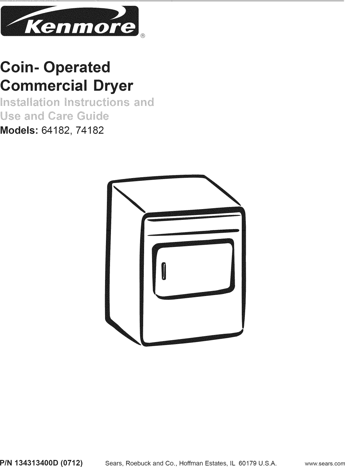 Kenmore 41764182300 User Manual ELECTRIC DRYER Manuals And