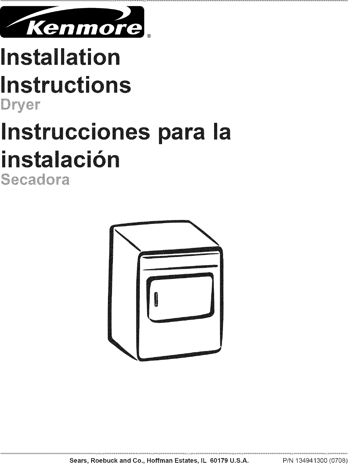 Kenmore 41788042700 User Manual DRYER Manuals And Guides