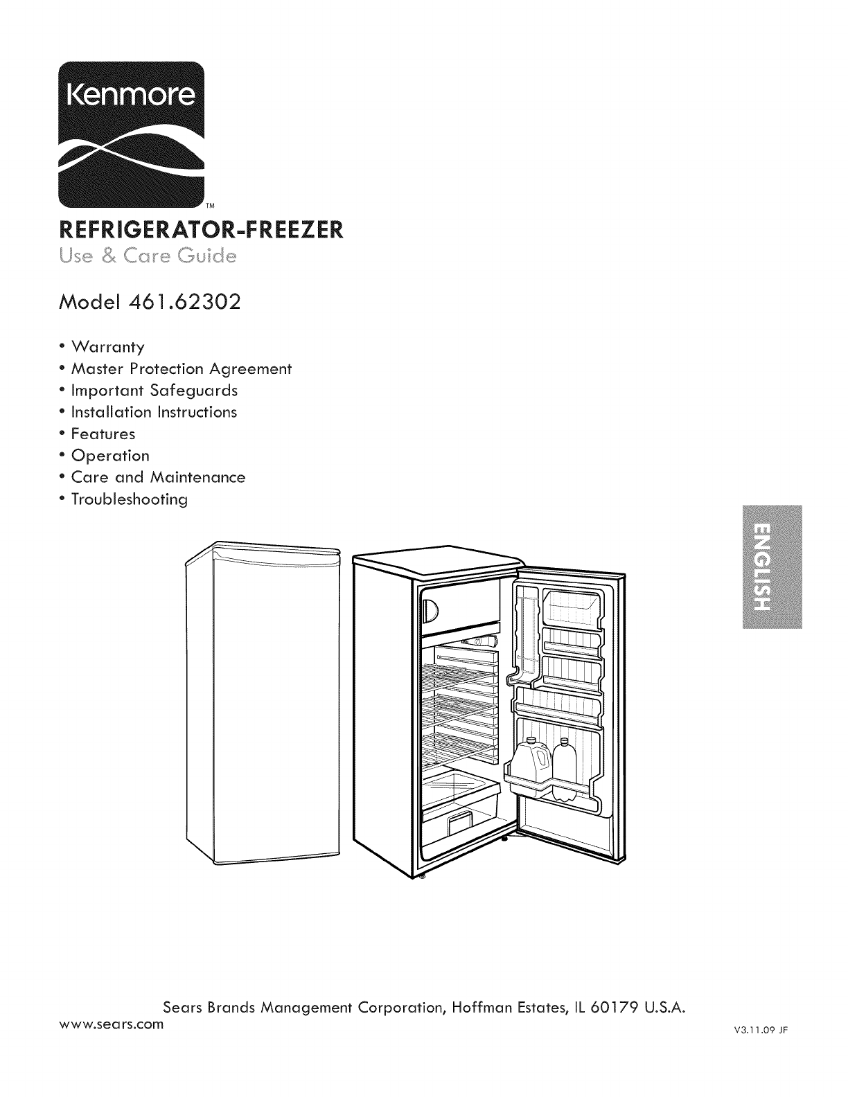 Kenmore 46162302010 User Manual COMPACT REFRIGERATOR