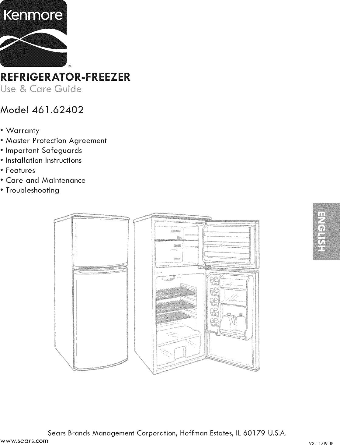 Kenmore 46162402010 User Manual COMPACT REFRIGERATOR