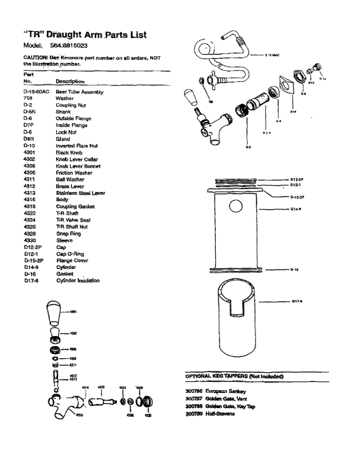 small resolution of  tr dpaught arm parts list