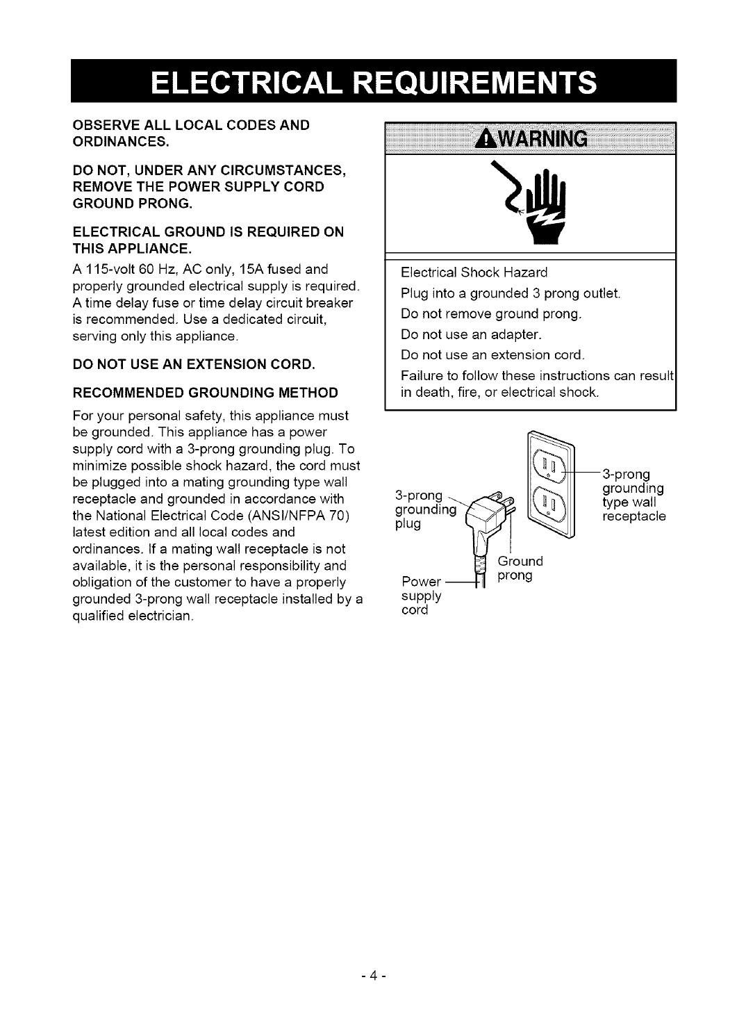 Kenmore 58054501500 User Manual DEHUMIDIFIER Manuals And