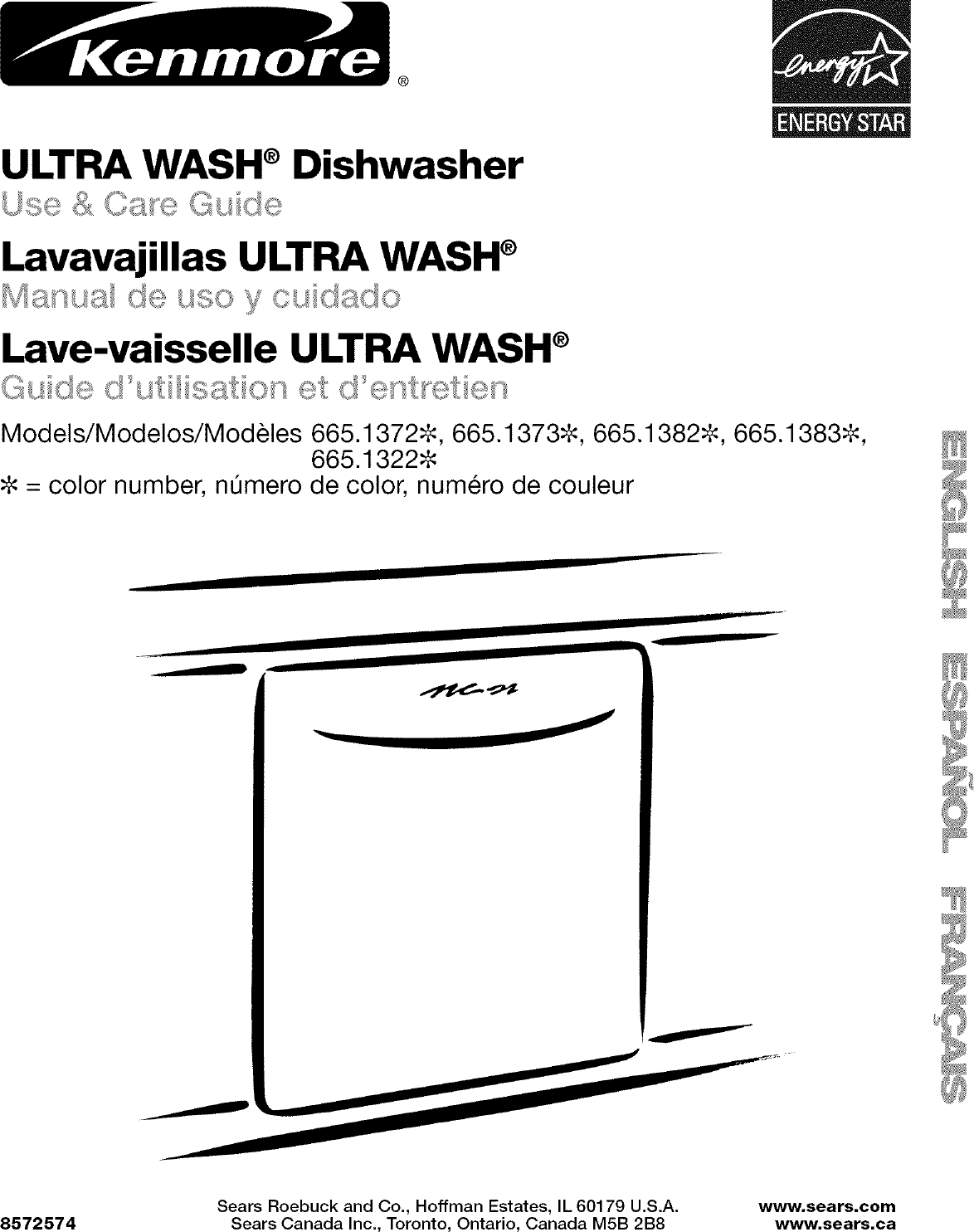 Kenmore 66513222K601 User Manual DISHWASHER Manuals And