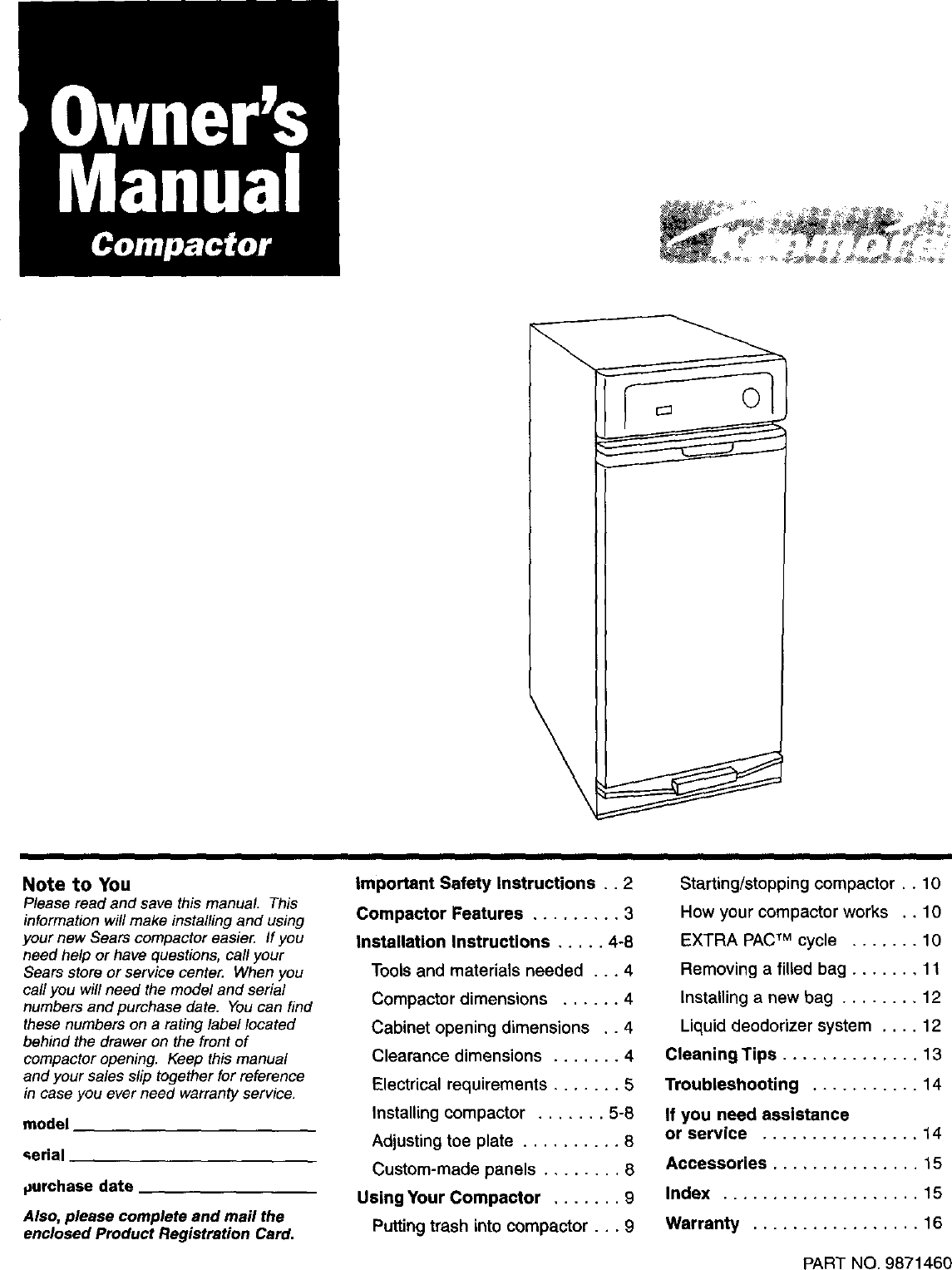 hight resolution of kenmore trash compactor wiring diagram