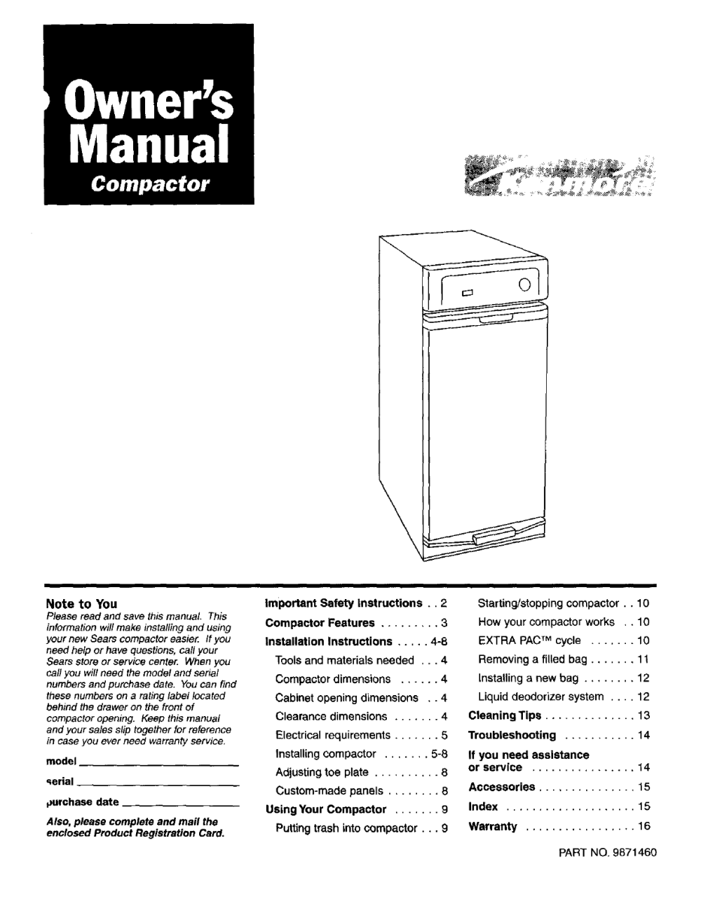 medium resolution of kenmore trash compactor wiring diagram