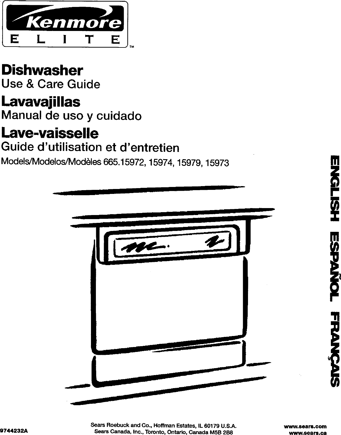 Kenmore 66515973992 User Manual DISHWASHER Manuals And