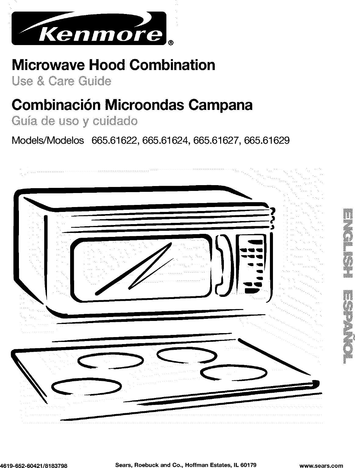 Kenmore 66561627100 User Manual MICROWAVE/HOOD COMBO