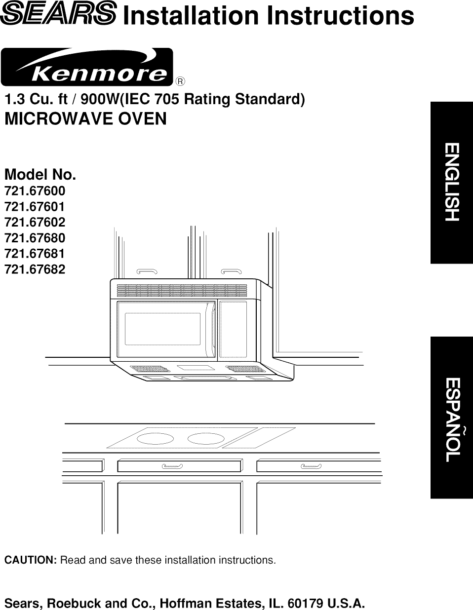Kenmore 72167601790 User Manual MICROWAVE OVEN Manuals And