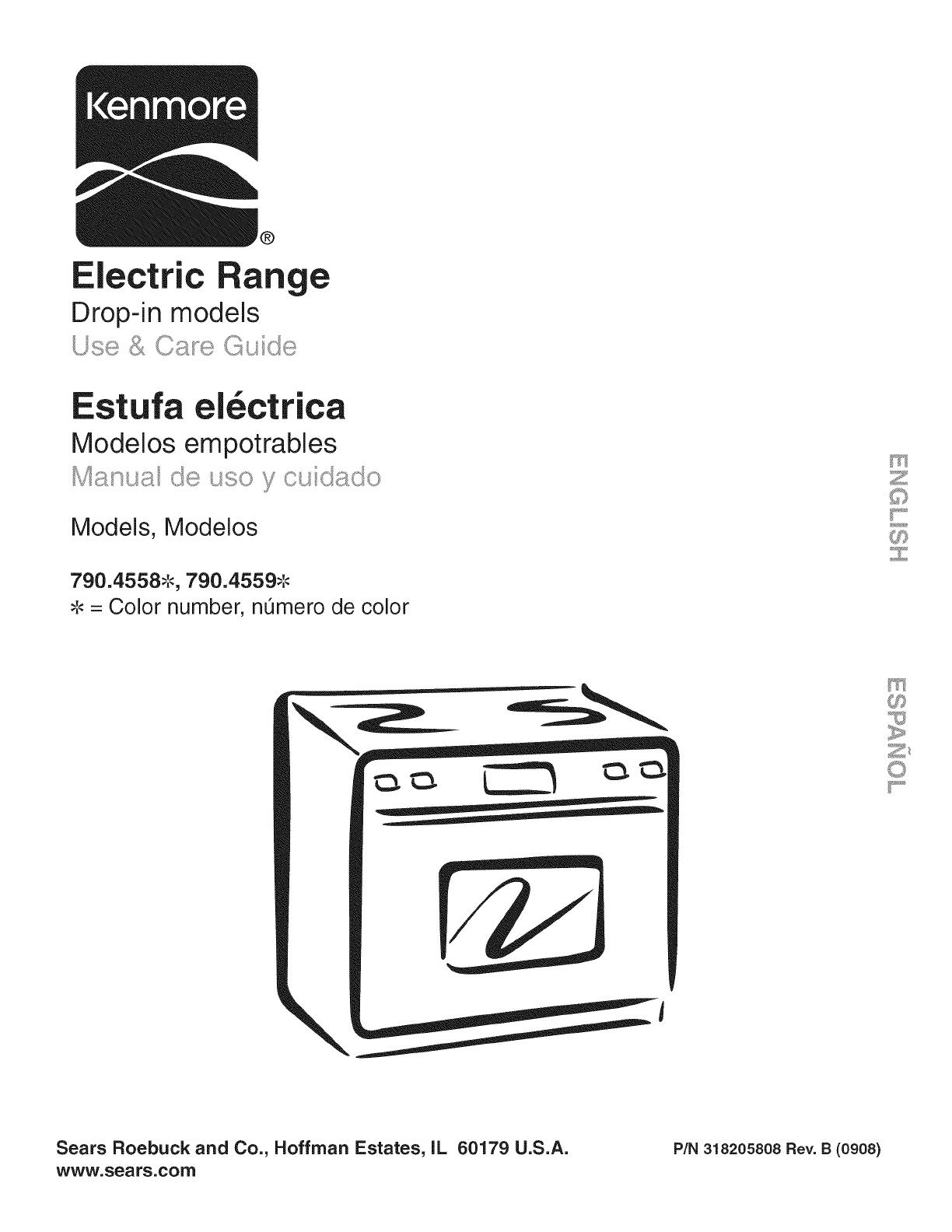 Kenmore 79045582902 User Manual ELECTRIC RANGE Manuals And