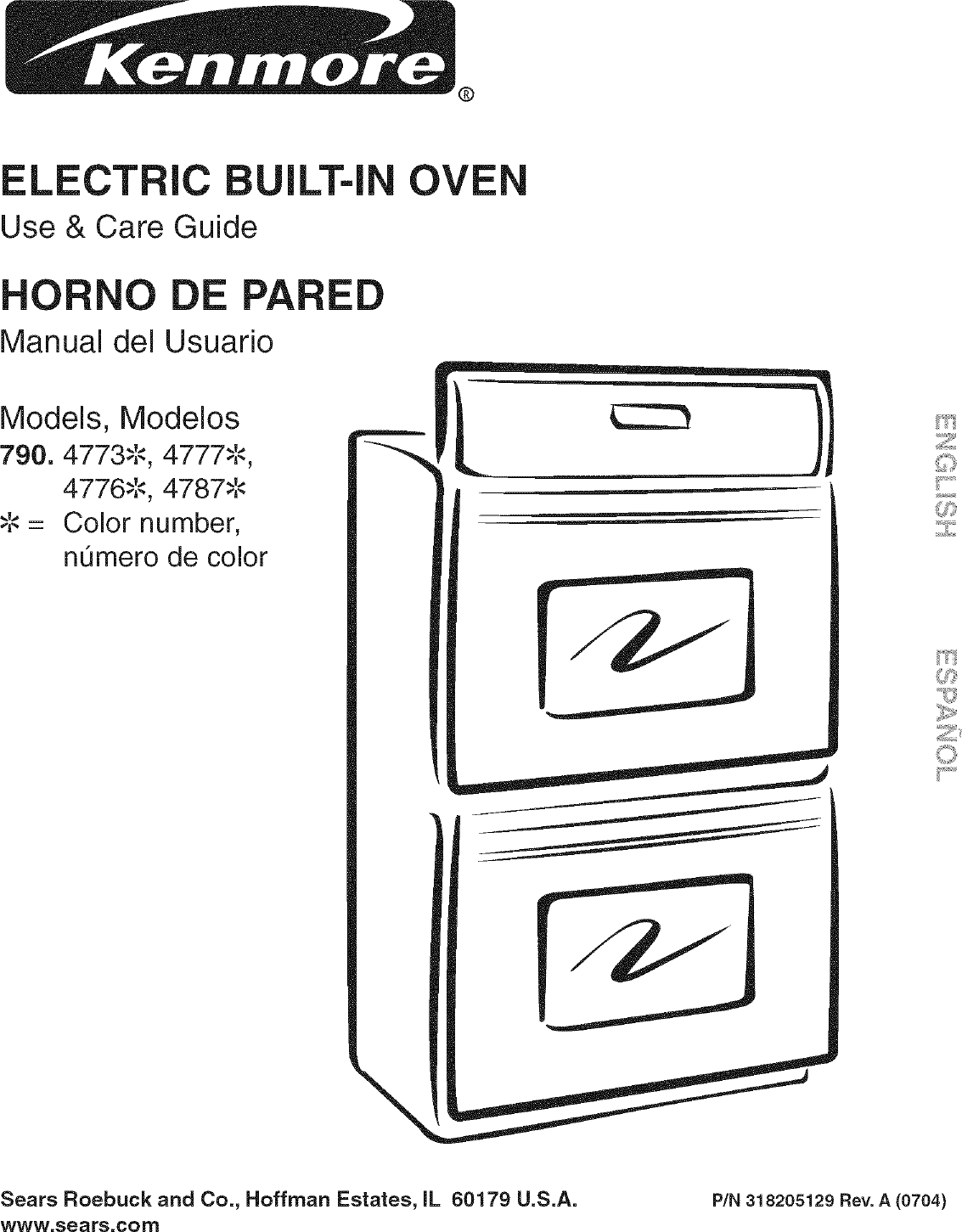Kenmore 79047733407 User Manual ELECTRIC OVEN Manuals And