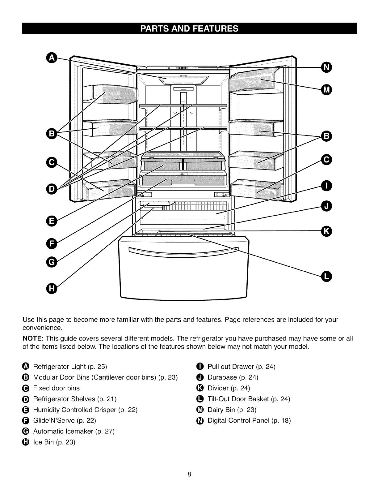 Kenmore 79571602010 User Manual REFRIGERATOR Manuals And