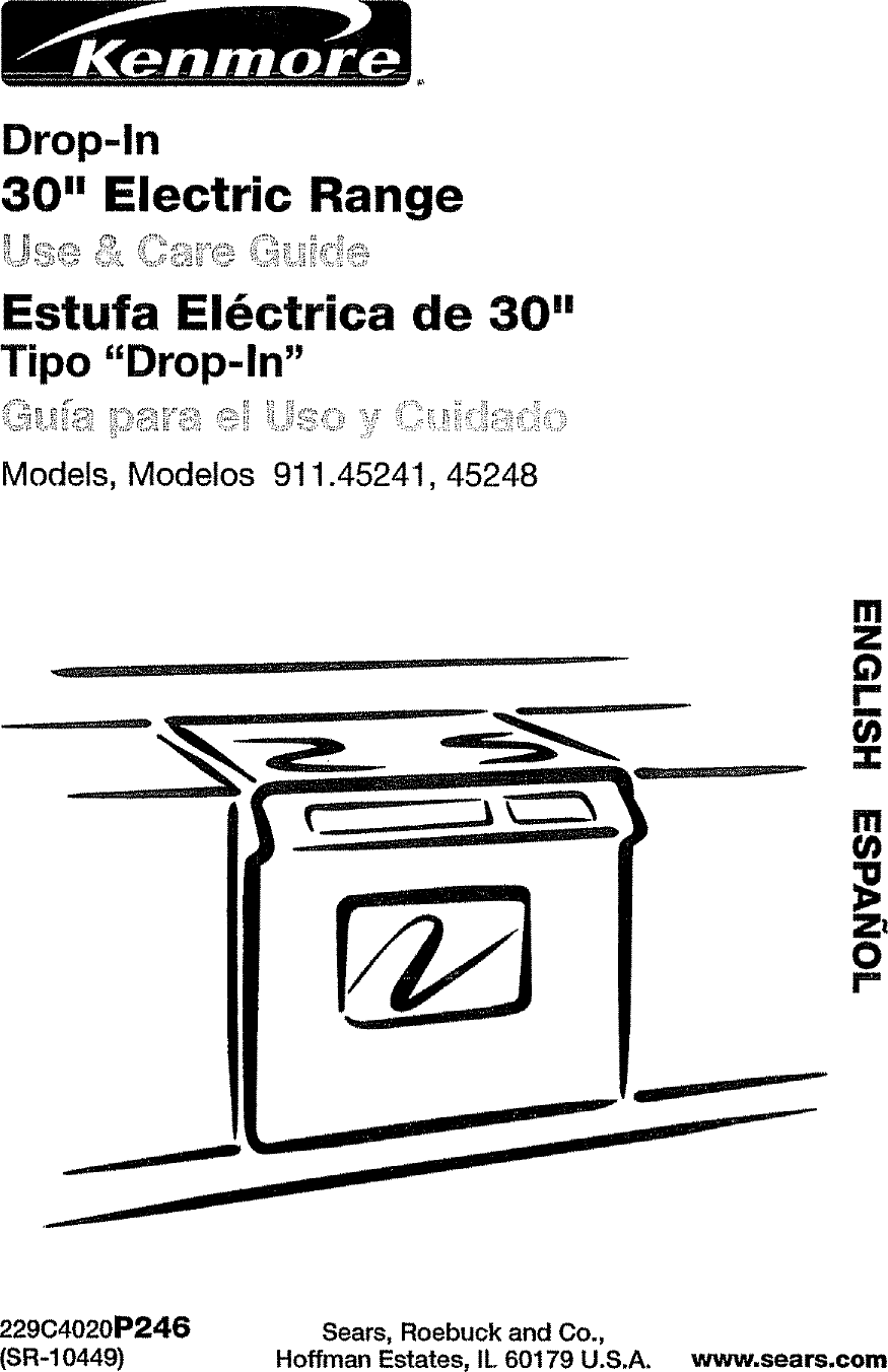 Kenmore 9114524196 User Manual 30 ELECTRIC DROP IN RANGE