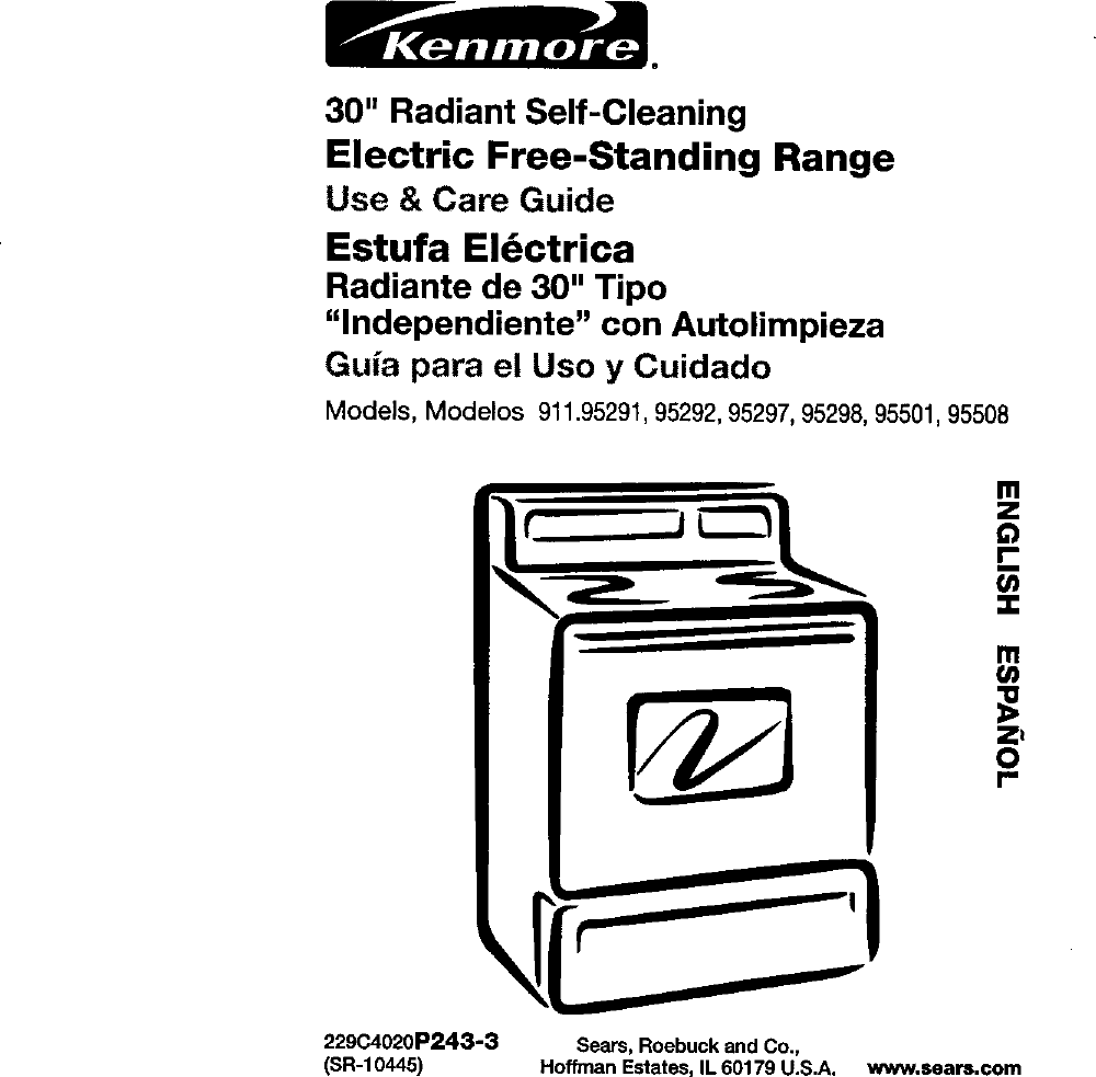 Kenmore 91195291990 User Manual 30 RADIANT RANGE Manuals