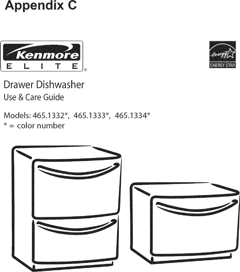 Kenmore 465 1332 Users Manual