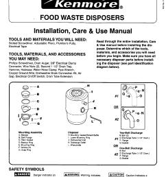 kenmore garbage disposal manual l0411040 kenmore garbage disposal owner s manual kenmore garbage disposal installation guides [ 1210 x 1572 Pixel ]