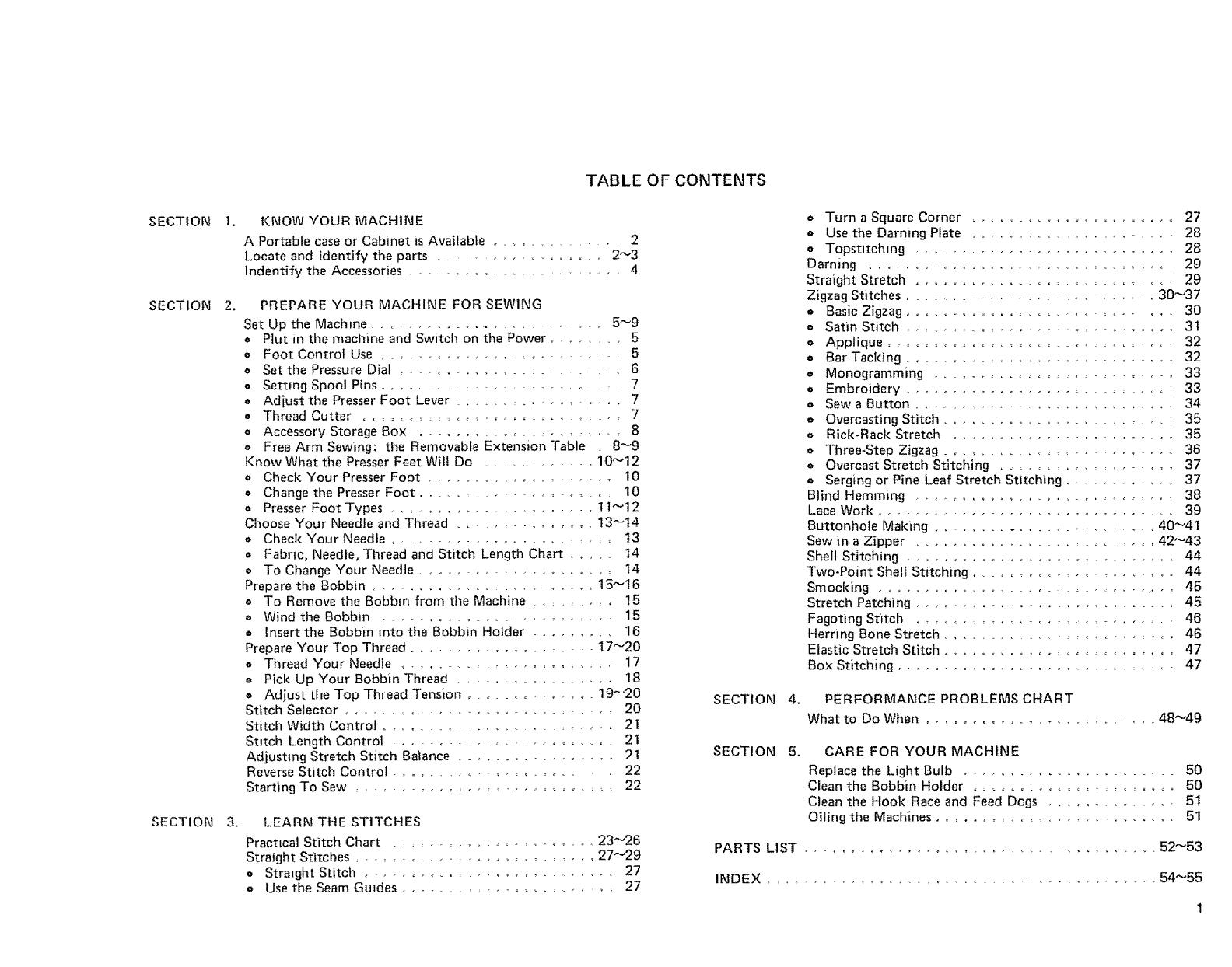 Kenmore Sewing Machine 385 Users Manual
