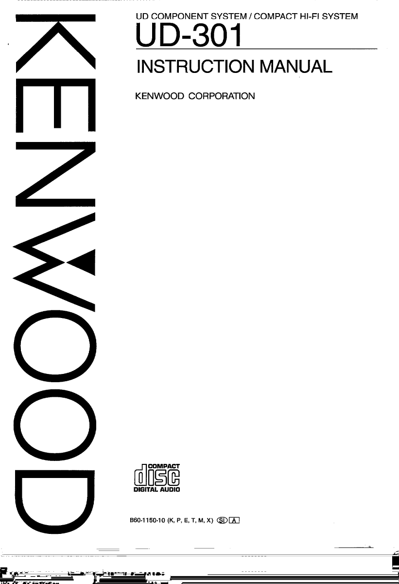 Kenwood A B3L Owner S Manual UD 301