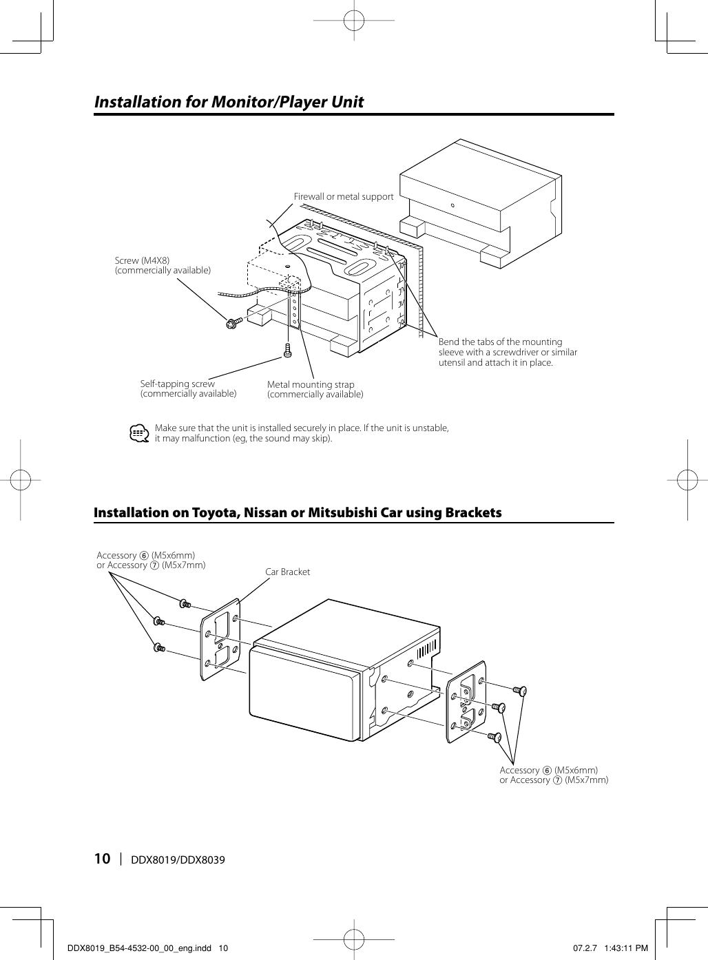 Kenwood Excelon Ddx8019 Users Manual DDX8019_B54 4532 00