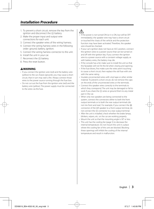 small resolution of page 3 of 12 kenwood kenwood excelon ddx8019 users manual