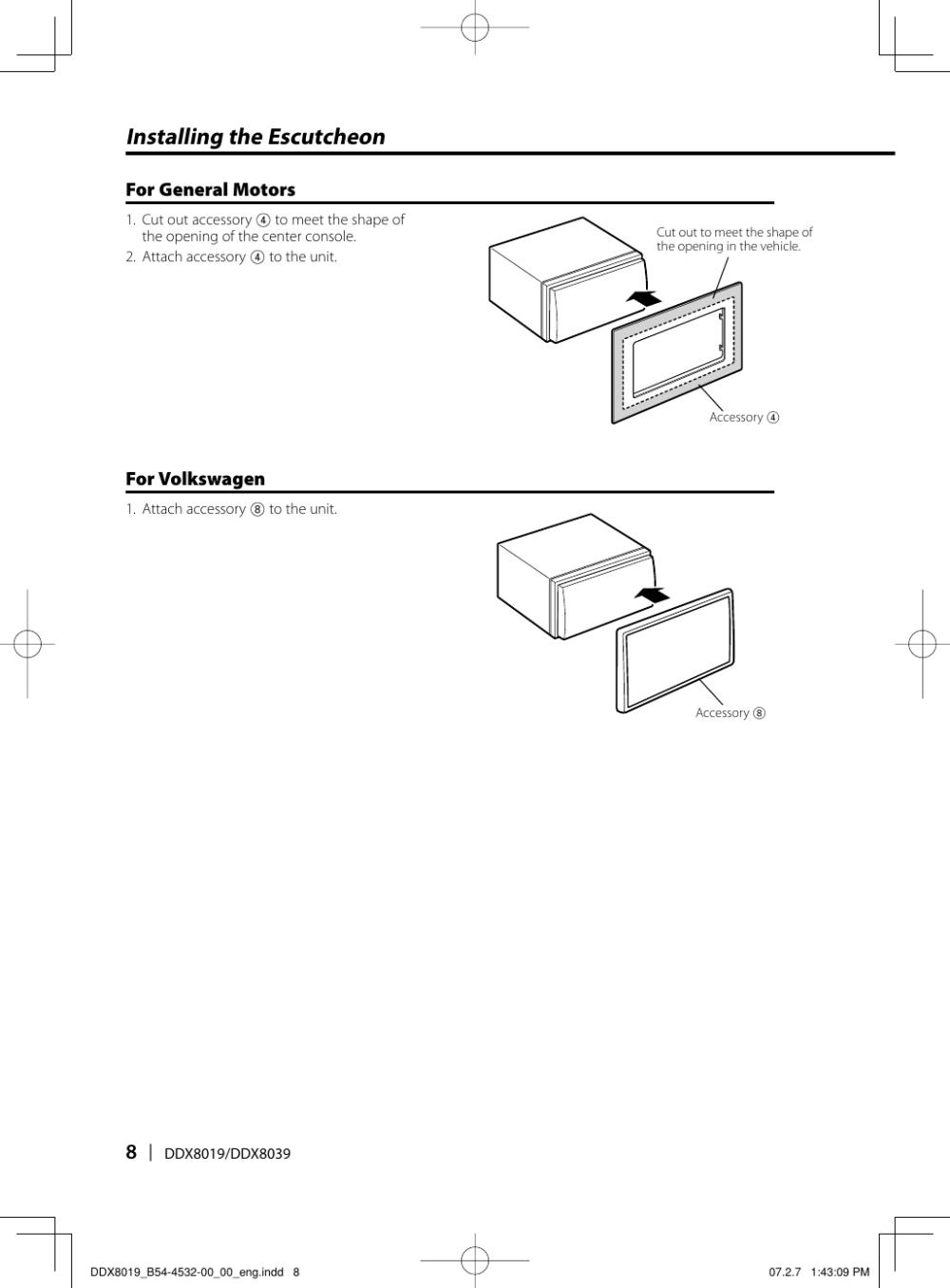 medium resolution of page 8 of 12 kenwood kenwood excelon ddx8019 users manual