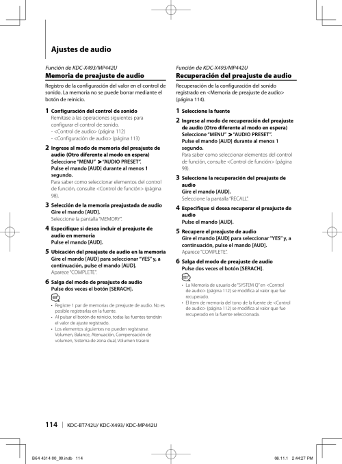 small resolution of kenwoodexcelonkdcx493usersmanual263232 373101021 user guide page 114 png