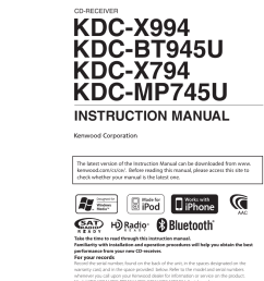 kenwood excelon kdc x994 users manual [ 798 x 1142 Pixel ]