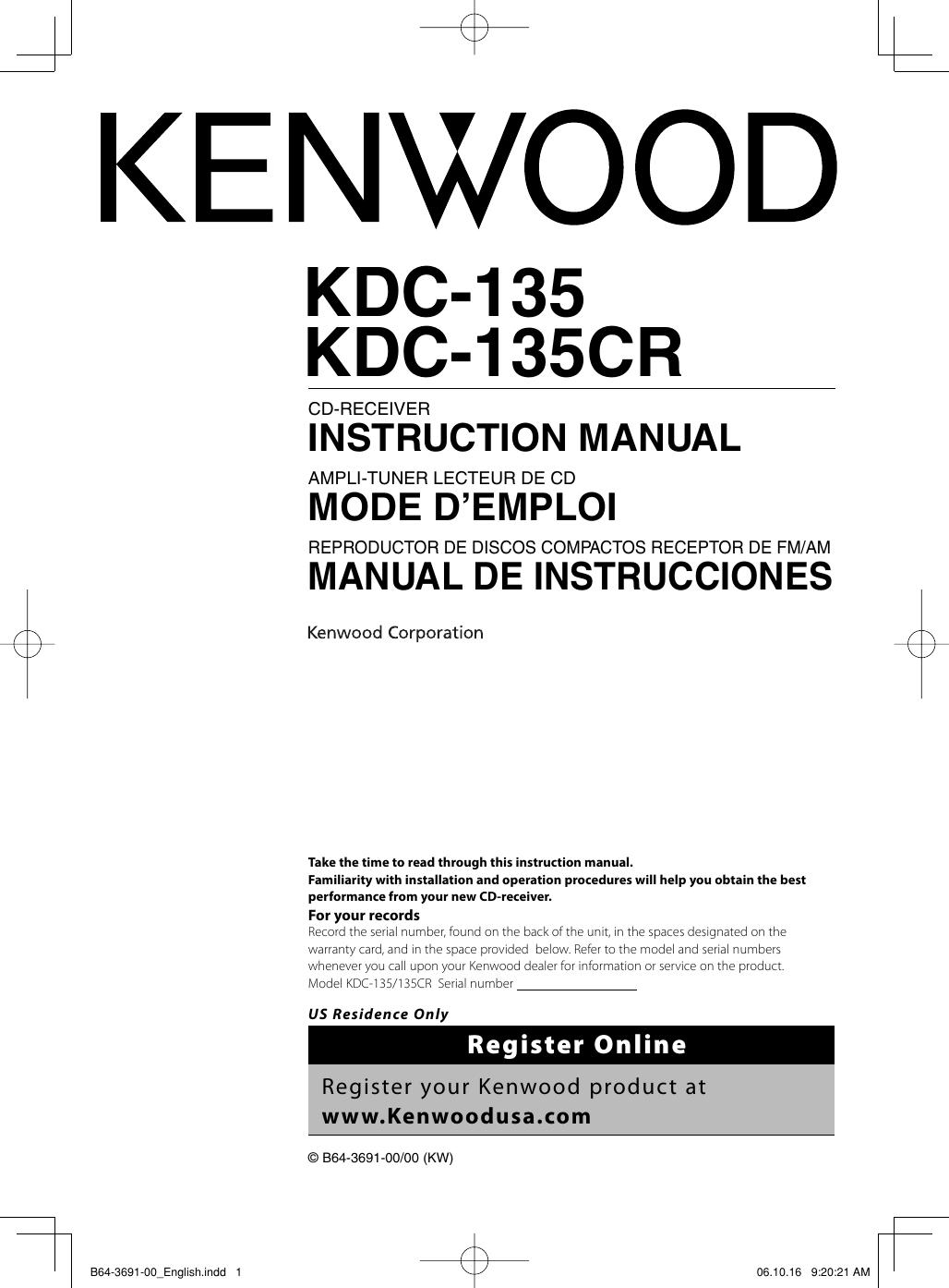 Mode Demploi Kenwood Mini 850