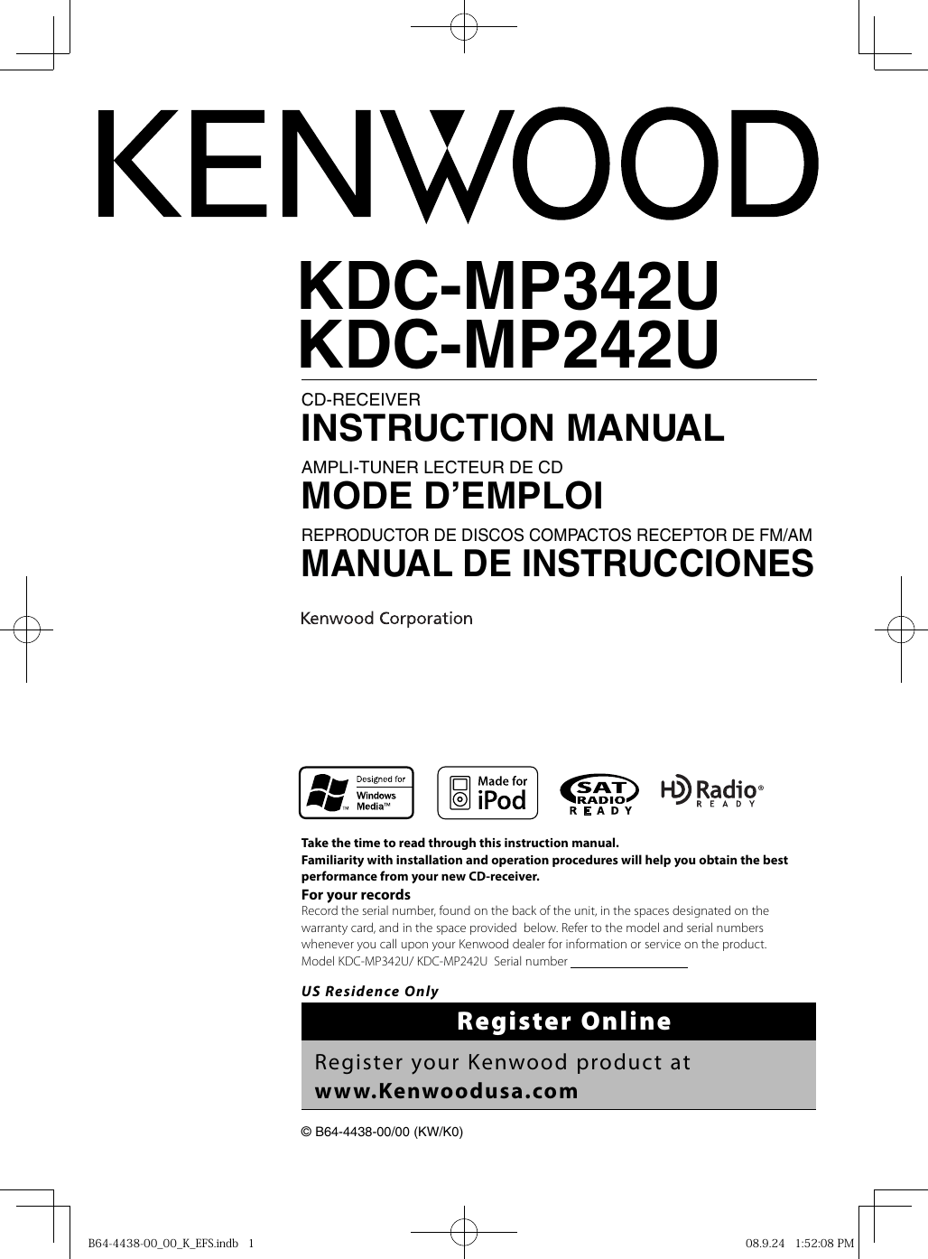 hight resolution of kenwood kdc mp342u owner s manual b64 4438 00 00 k efs indbkdc mp342u wiring diagram 18