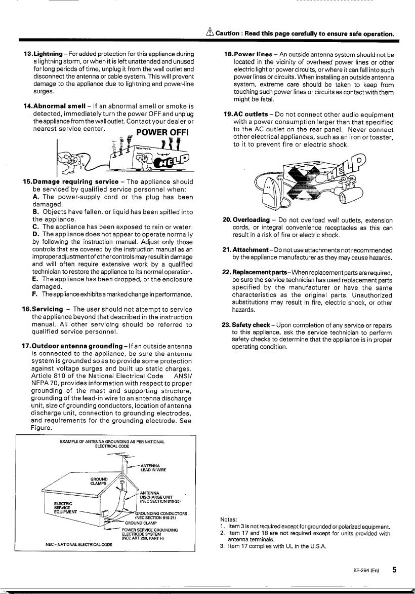 Kenwood Ke 294 Owner S Manual