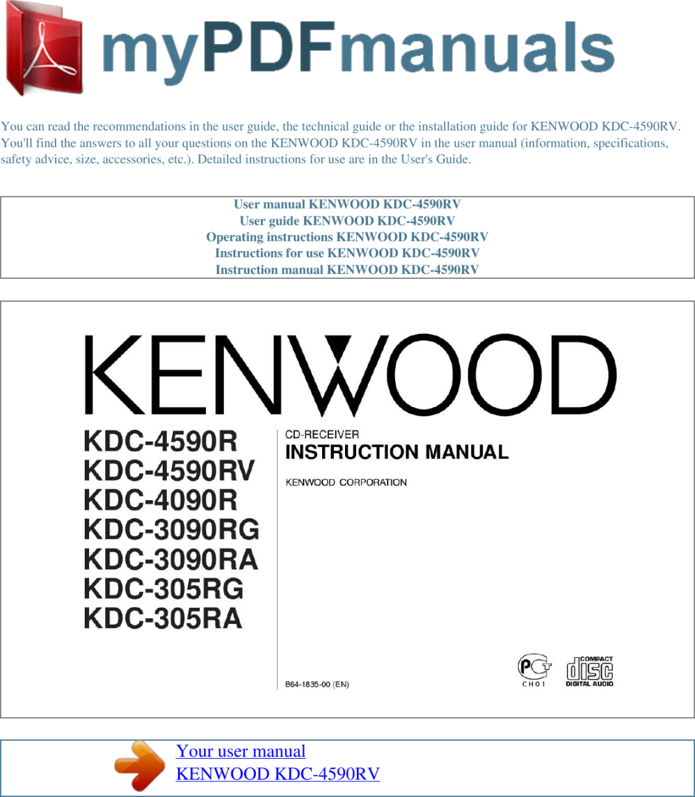 medium resolution of page 1 of 2 kenwood kenwood kenwood car stereo system
