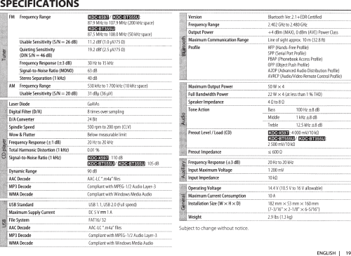 small resolution of kenwood car stereo system kdc x597 users manual 113kdcx597 wiring diagram kenwood excelon kdc x597