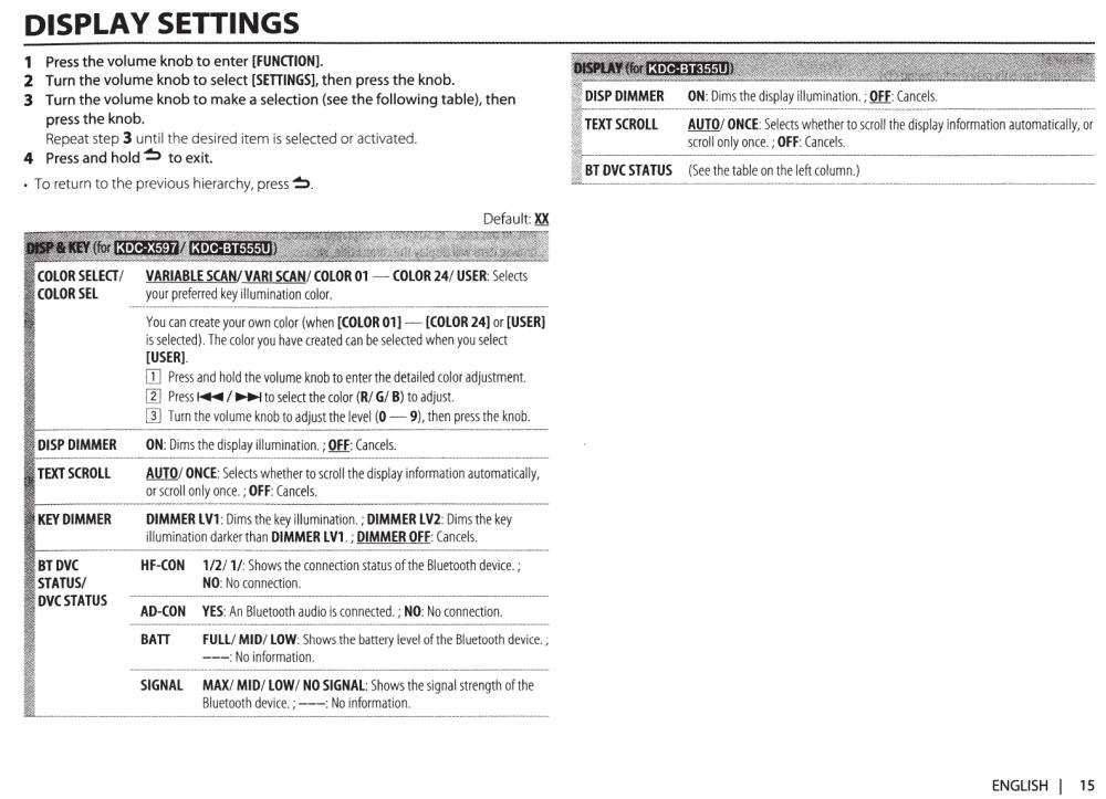 medium resolution of kenwood car stereo system kdc x597 users manual 113kdcx597